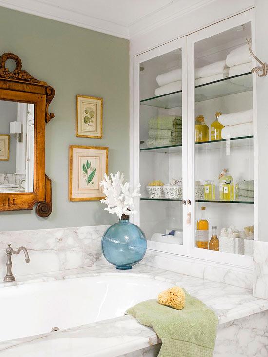 úložné prostory v koupelně