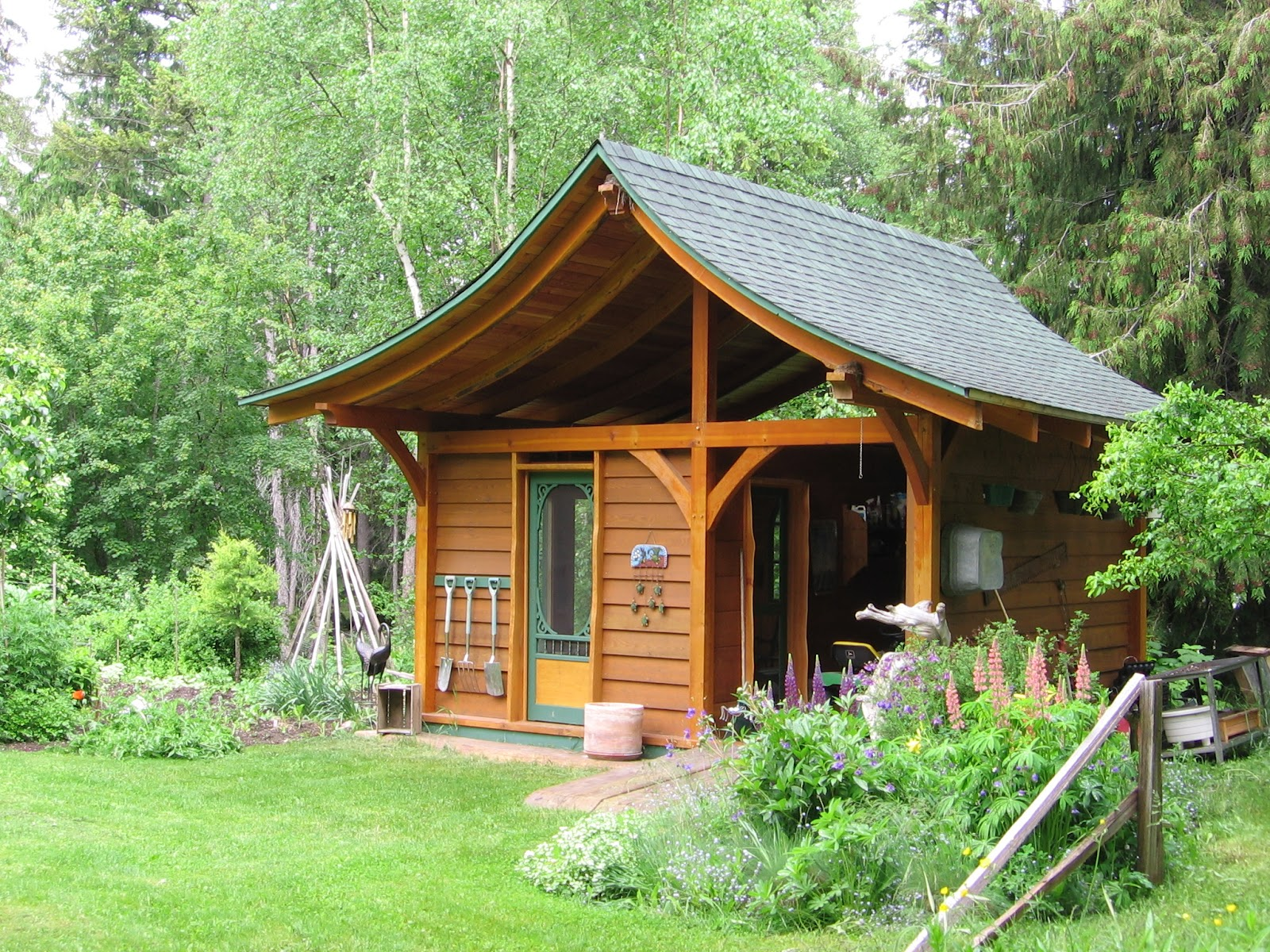 A-traditional-wooden-garden-shed